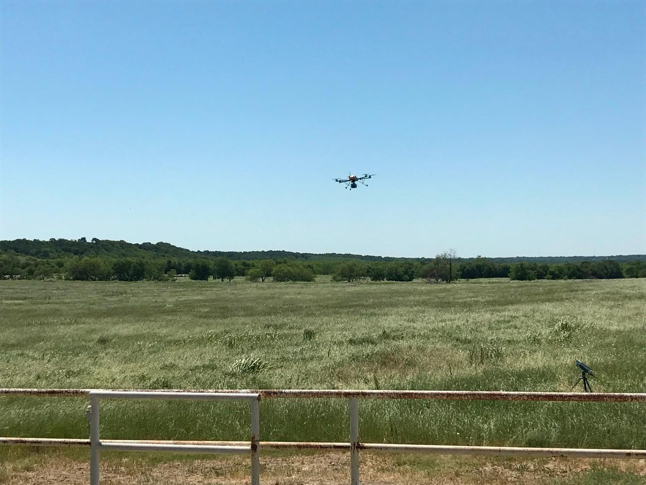 Researchers field-tested the airborne cell network in Waxahachie, Texas