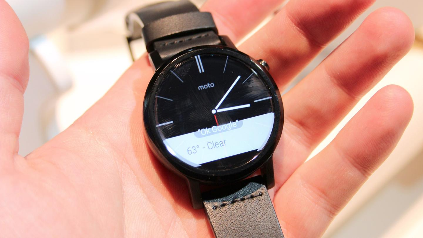 Motorola's battery life estimates are much healthier on the second generation smartwatch, with the company rating the larger device for two full days up time, and the smaller for a day and a half