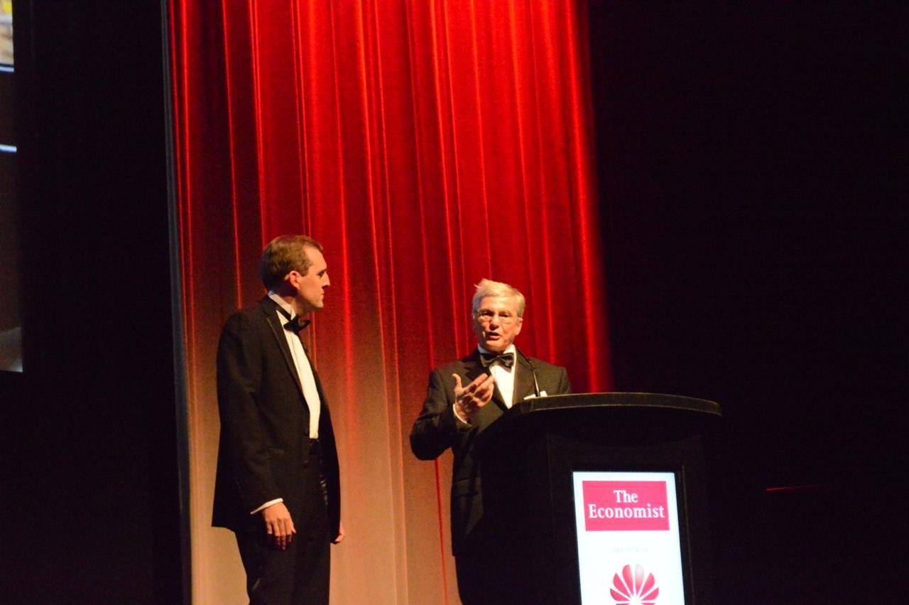 Genentech's Napoleone Ferrara accepts his award (Photo: Gizmag)