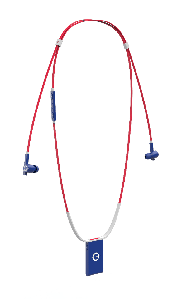 Roam headphones are unique because of the pendant hanging down there