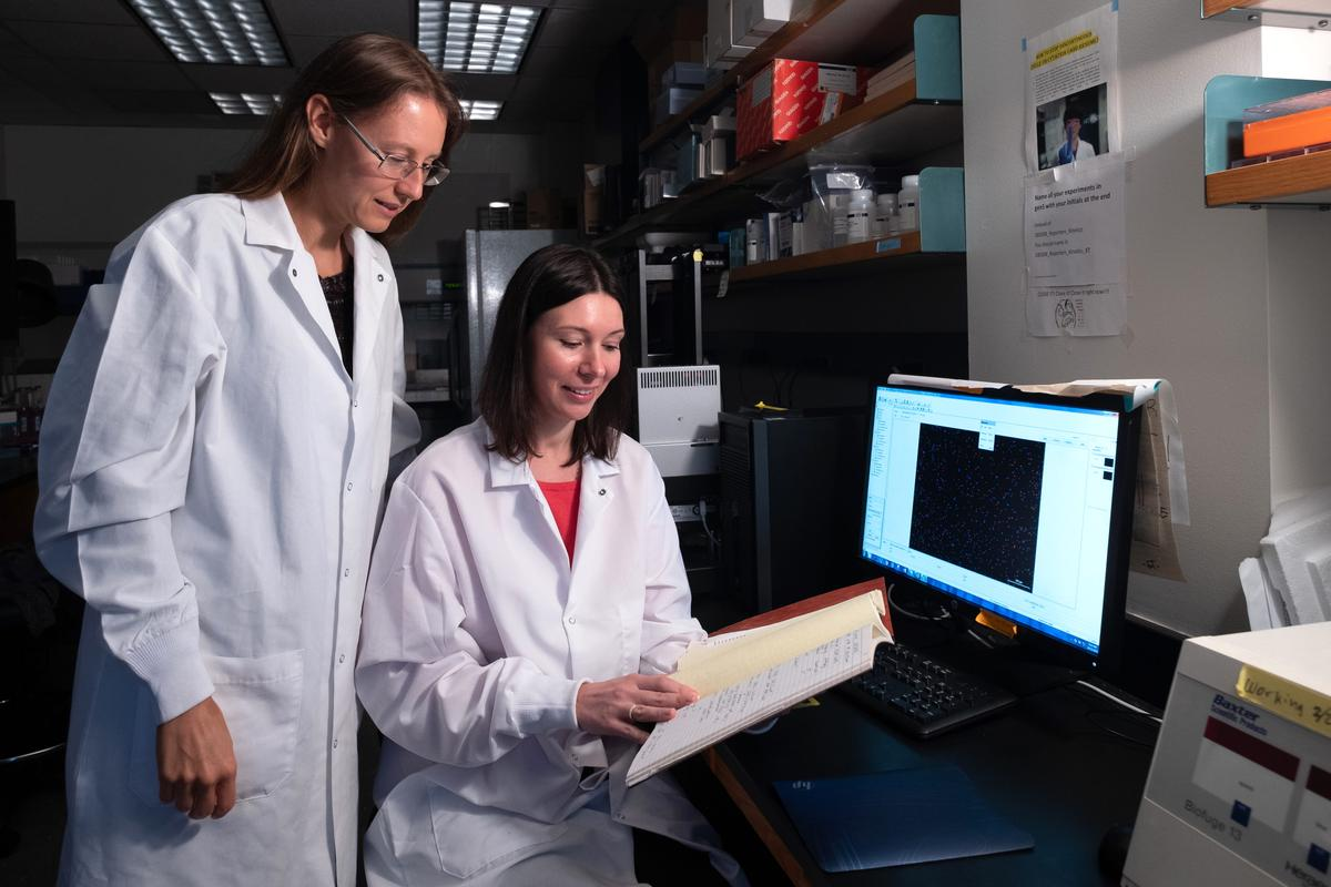 Rice University bioscientists Natasha Kirienko (left) and Svetlana Panina
