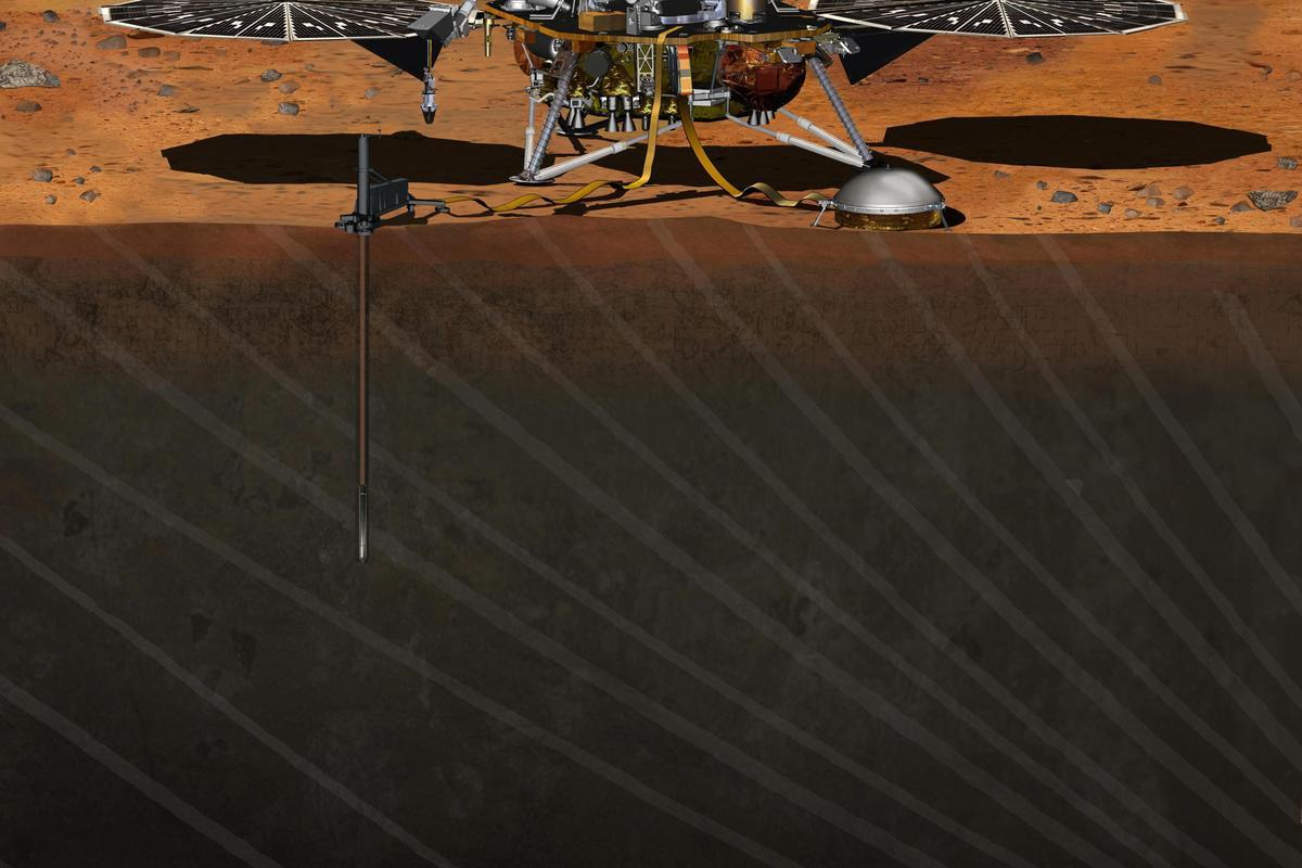 Artist's concept of the InSight Lander (Image: NASA)