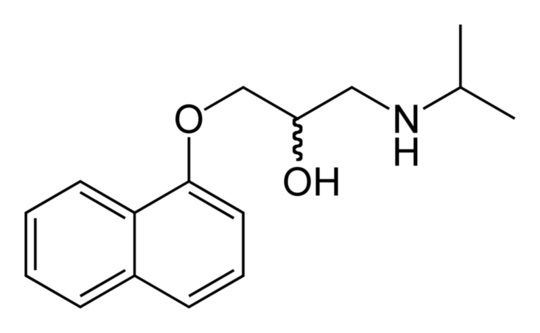 The molecular structure of propanolol