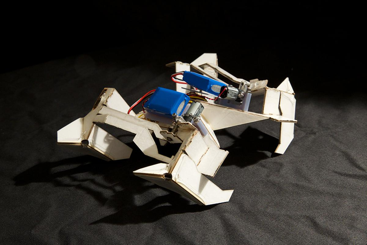 A self-folding mobile prototype developed by researchers at MIT and Harvard (Photo: Harvard's Wyss Institute)