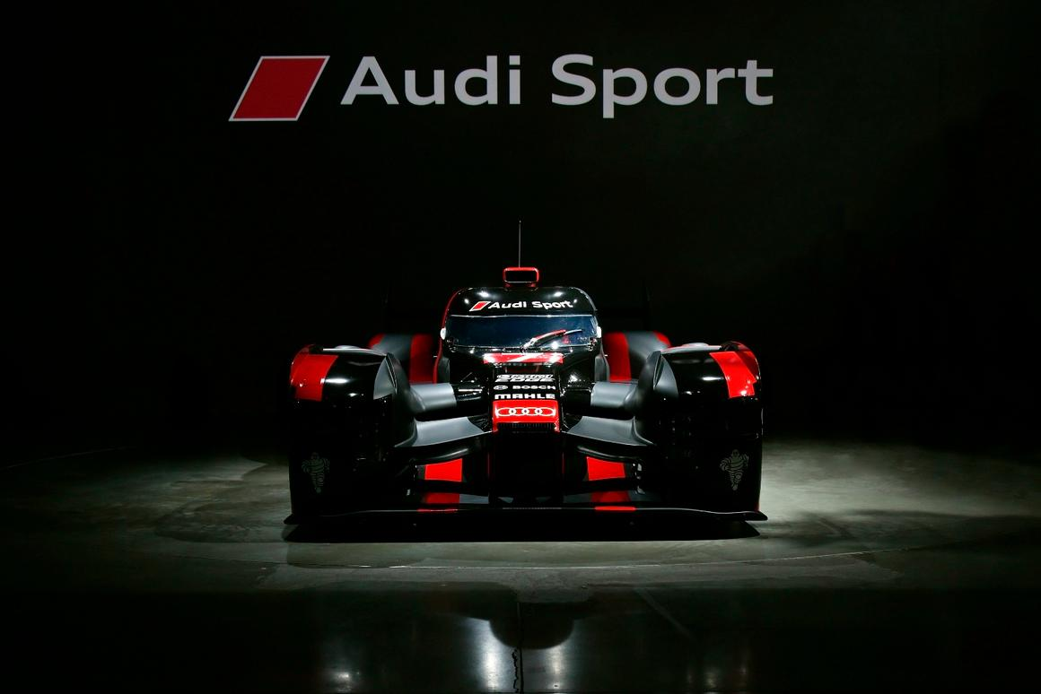 Audi premiered its new R18 racer at the Audi Sport Finale