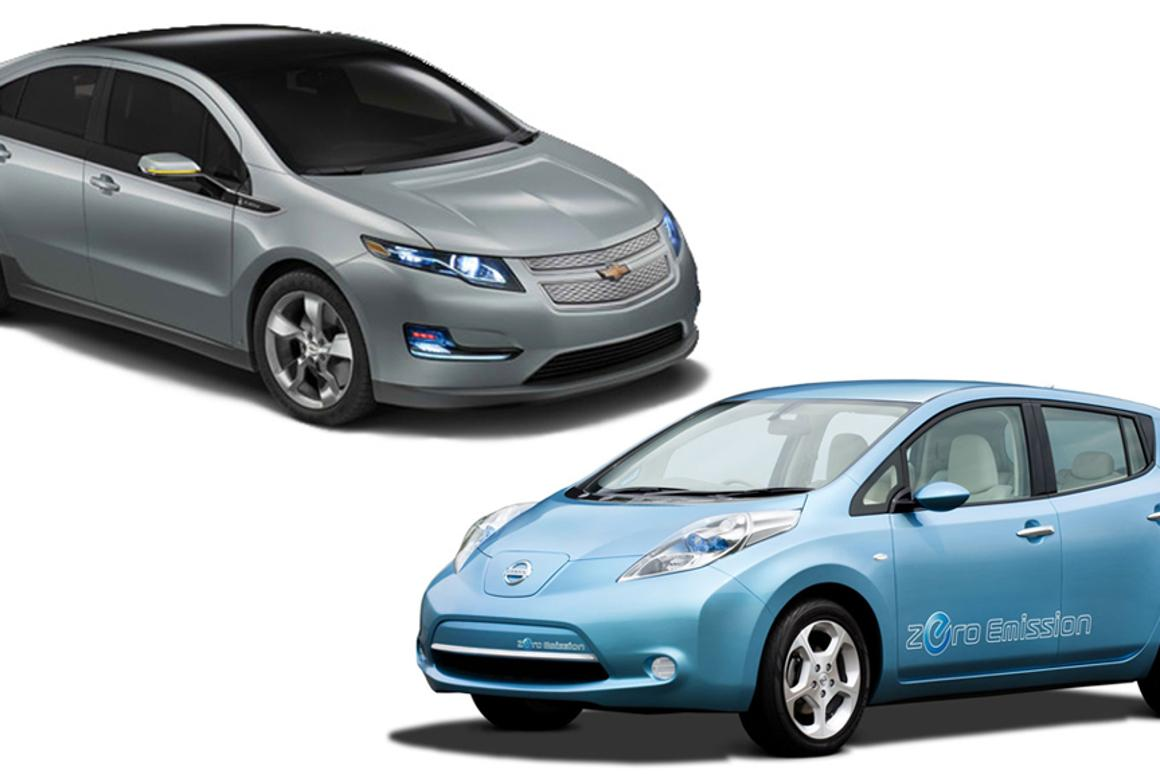 The Chevy Volt and Nissan LEAF will be available to rent from next year