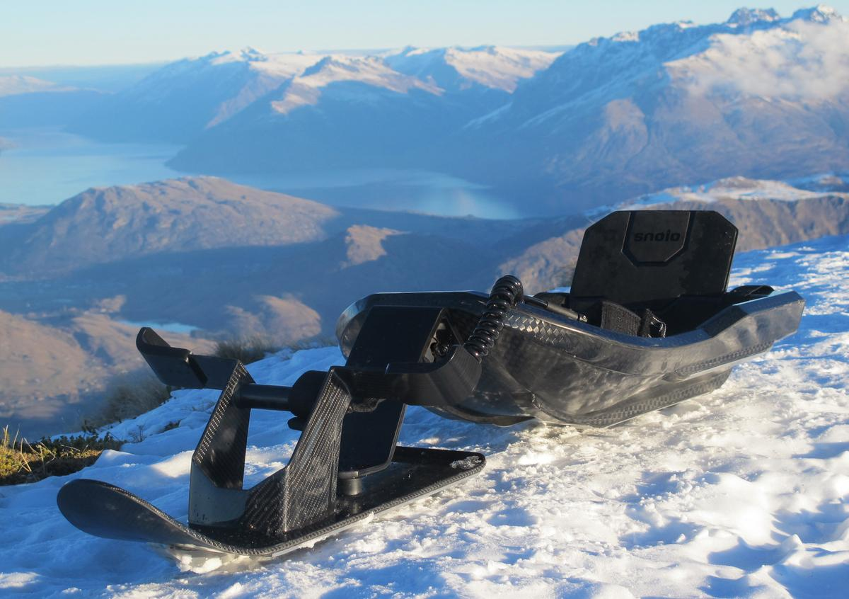 The Stealth-X is a carbon fiber sled designed for speed
