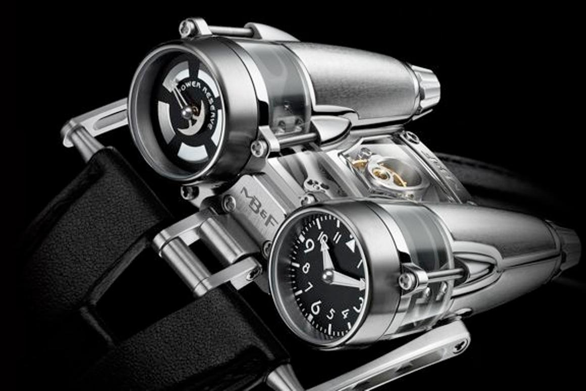 The Horological Machine No. 4 Thunderbolt is a titanium and sapphire watch inspired by aircraft, that costs almost US$200,000