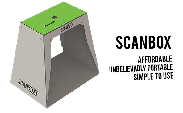 """Scanbox is a foldable """"stage"""" that makes it easy to photograph documents and other objects using a smartphone"""