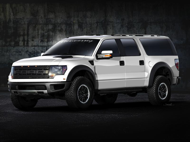 The Ford F-150 SVT Raptor turns SUV thanks to Hennessey
