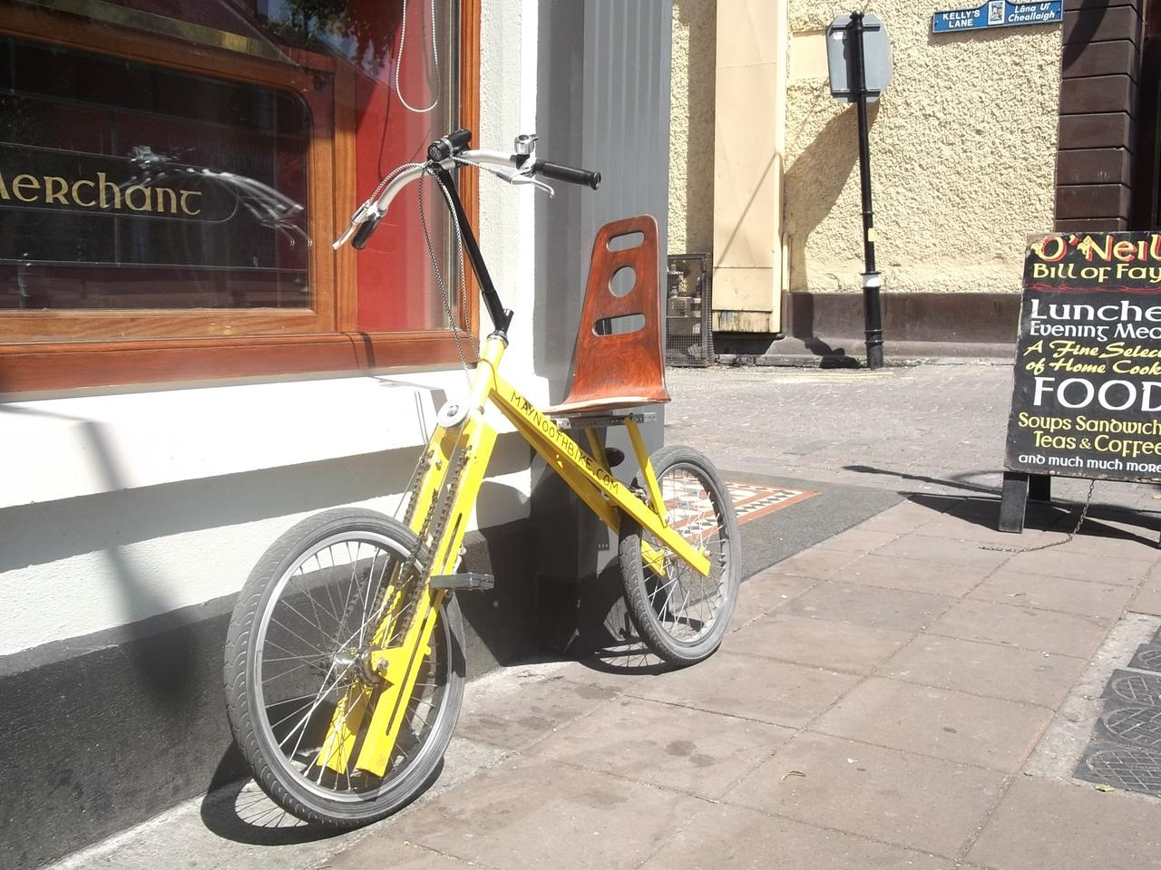 The MaynoothBike provides an alternative to the traditional bicycle