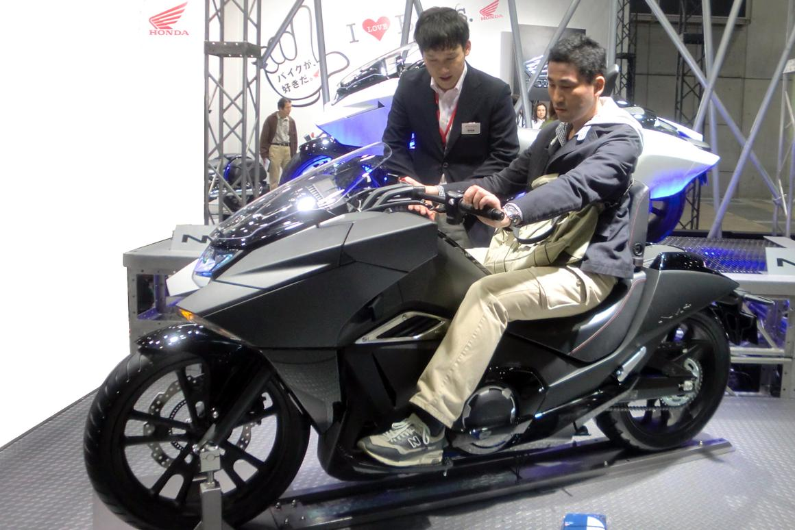 The Honda NM4-1 on display at the Tokyo Motorcycle Show(Photo: Stephen Clemenger)