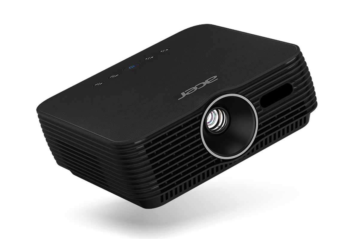Acer says that the B250i Full HD portable projector comes with studio sound