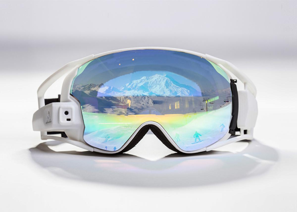 The RideOn goggles bring augmented reality to the ski slopes.