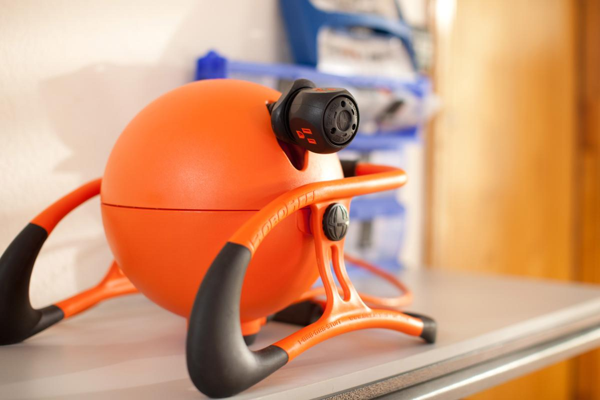 The RoboReel is a motorized extension cord winder, that incorporates several safety and convenience features
