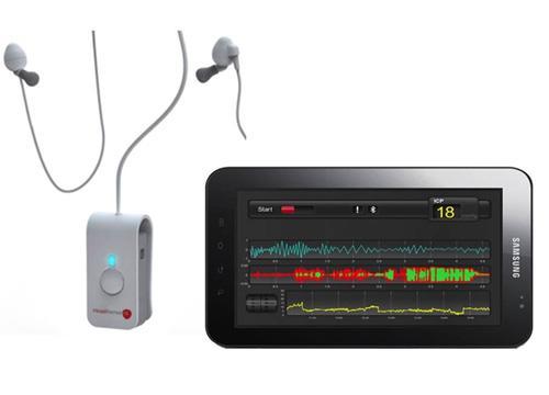 HeadSense's pressure-sensing ear buds