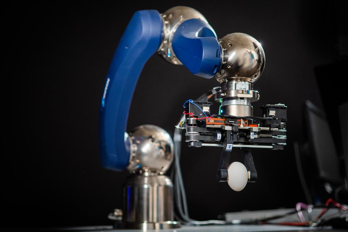 The gripper is designed for use with third-party robotic arms