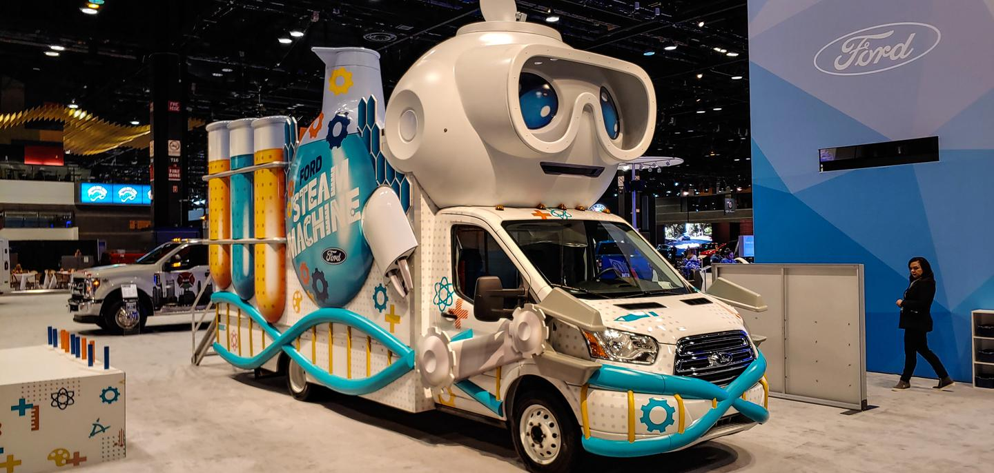 Full STEAM ahead with this children's learning center built around a Ford Transit van