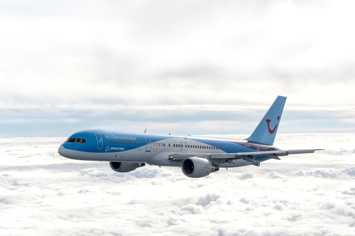 The Boeing Airplane Company's ecoDemonstrator 757 (Photo: Boeing)