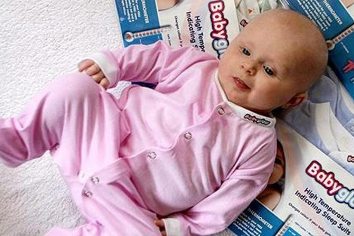 The Babyglow baby suit will instantly alert you that your baby has a high temperature