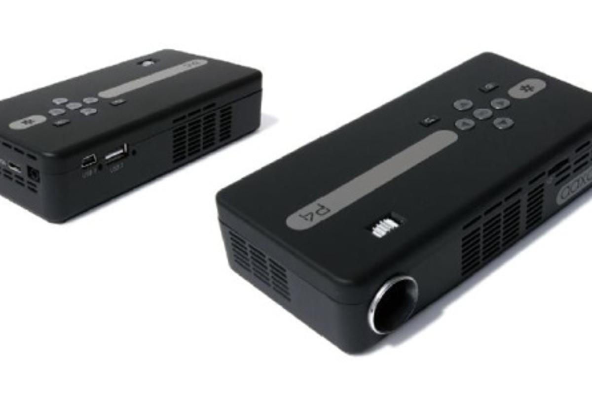 The AAXA P4 Pico Projector offers 80 lumens of brightness, 75 minutes of battery life and can handle 720p videos
