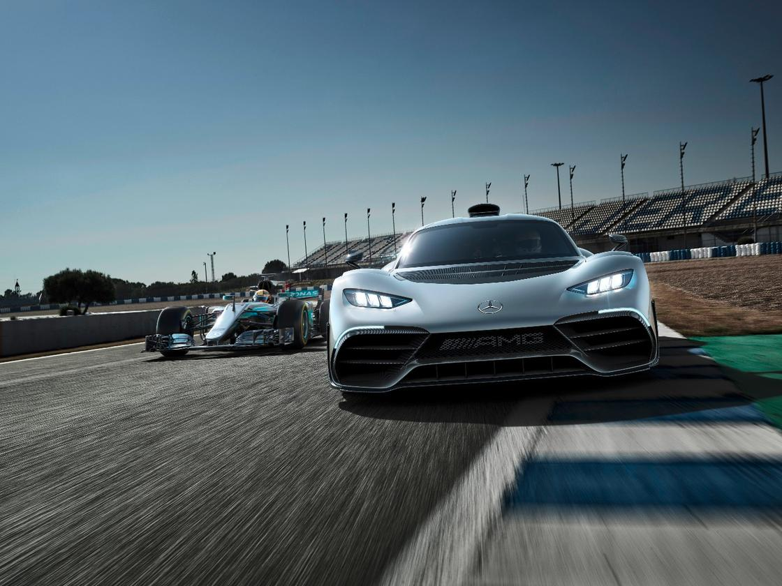 The Mercedes-AMG Project ONE show car for the 2017Frankfurt Motor Show