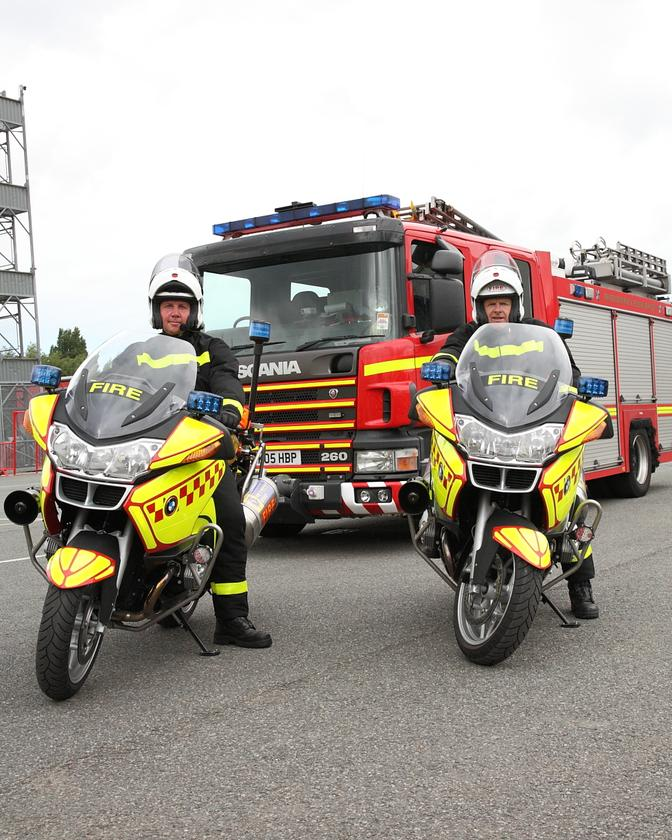 As well as getting to try out the new motorcycles, riders Colin Golden and Chris Bowers also benefit from newly designed protective gear
