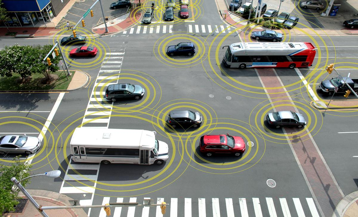 Some 3,000 vehicles equipped with wireless technology that allows them to communicate have taken to the roads in the Ann Arbor in the world's biggest field test of V2V and V2I technology (Image: GM)