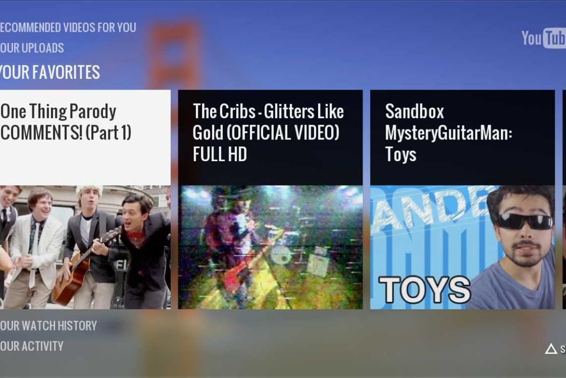 The PS3's YouTube app has been designed for big screen TVs