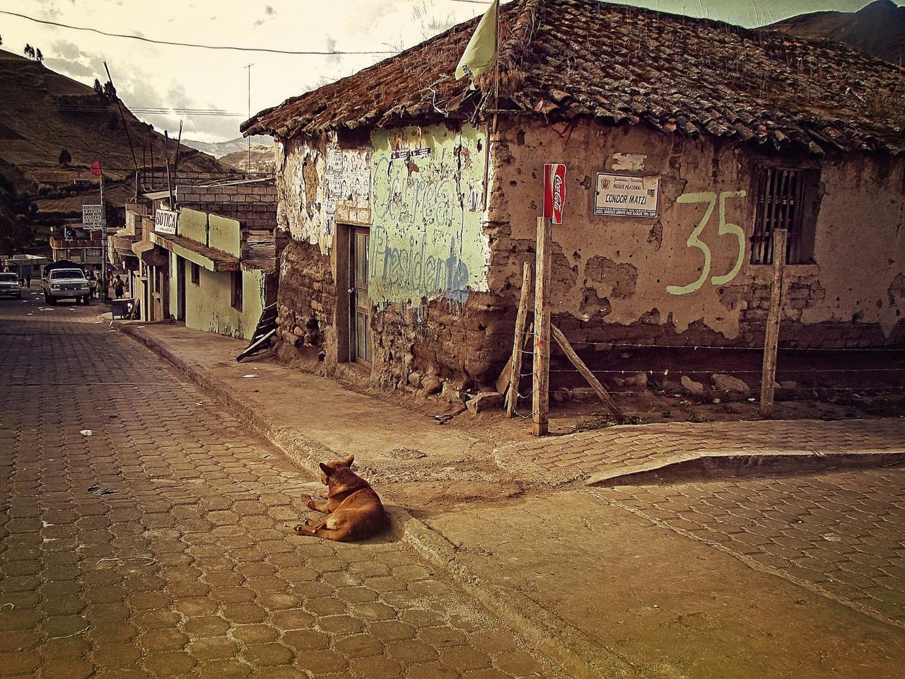A village near the equator in Ecuador