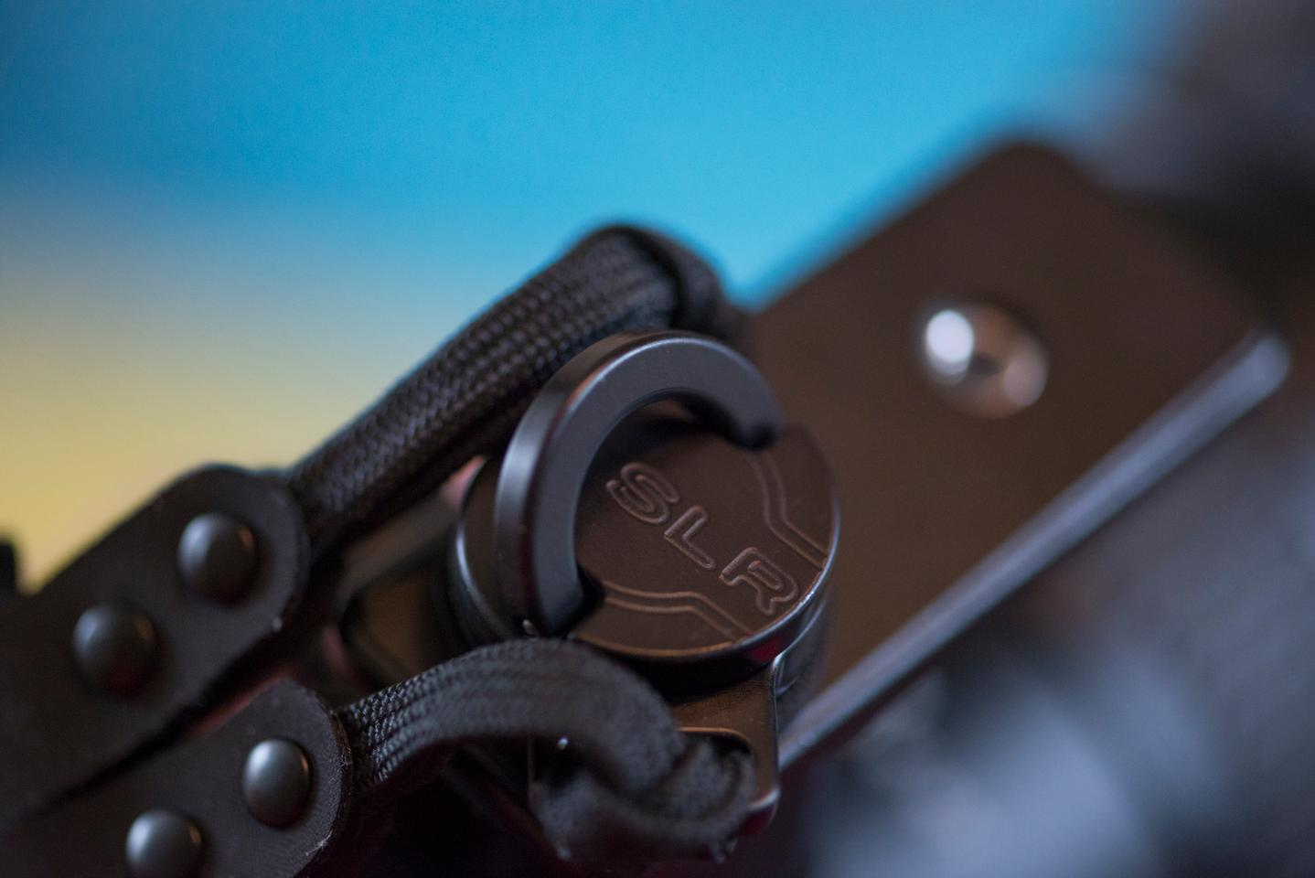 The Custom SLR Dual Camera Strap attaches to your camera or lens using a C-Loop Mount which screws into the tripod socket