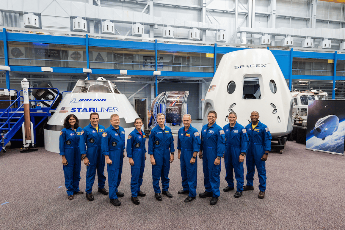 The first US astronauts who will fly on American-made, commercial spacecraft to and from the International Space Station