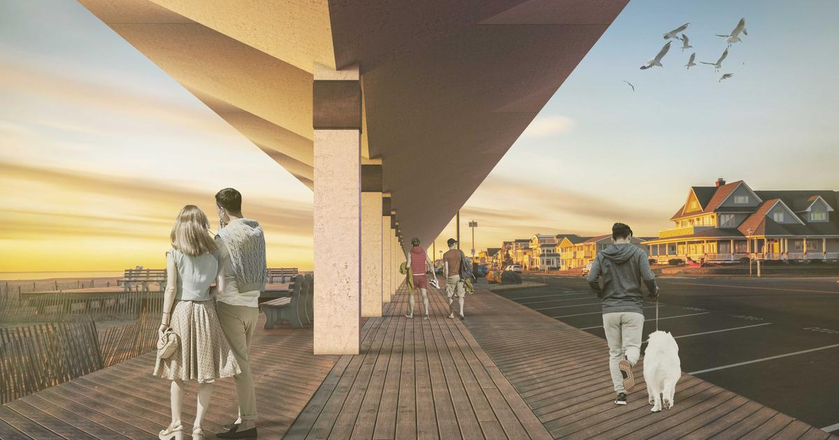 Seaside canopy could tilt to block storm waves