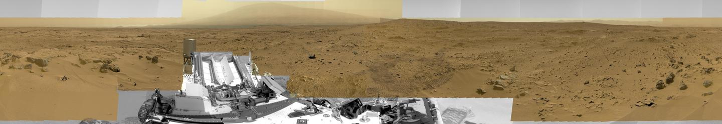 A reduced version of the Curiosity panorama (Image: NASA/JPL-Caltech/MSSS )