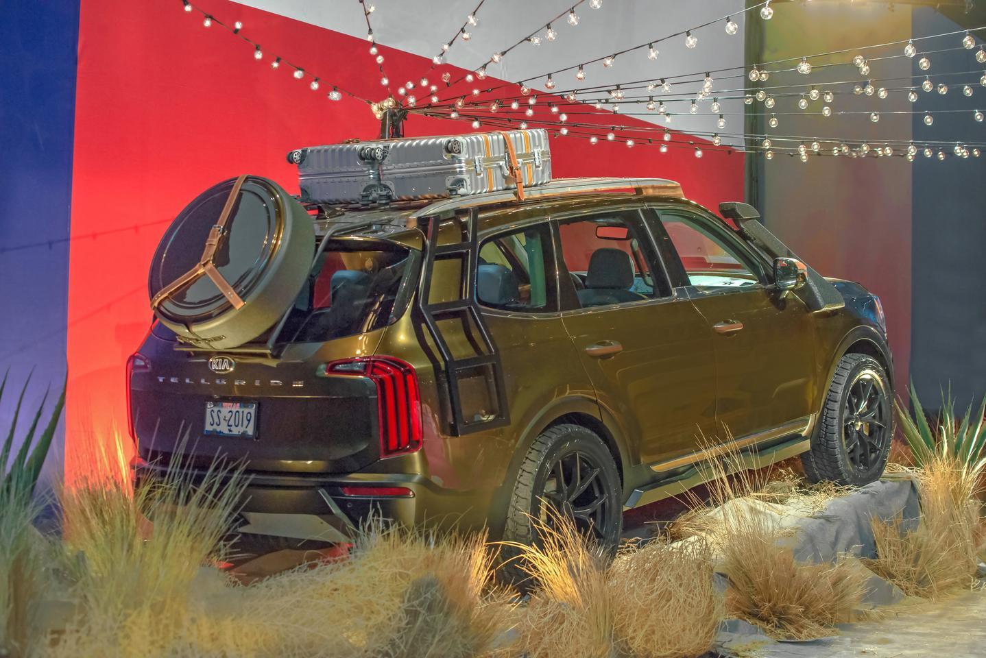 Kia's collaboration Telluride looks like it's ready to go overlanding across the Rockies