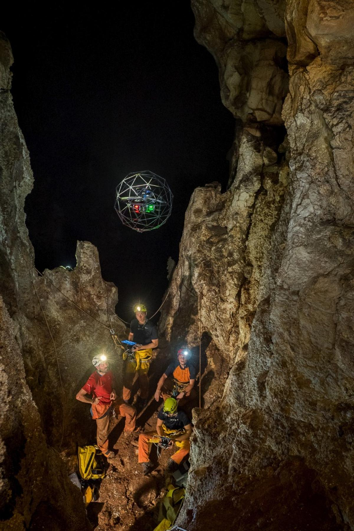 A crash-proof drone has been put to the test in caves in Sicily, as part of an ESA training program that could see it eventually used to explore Mars