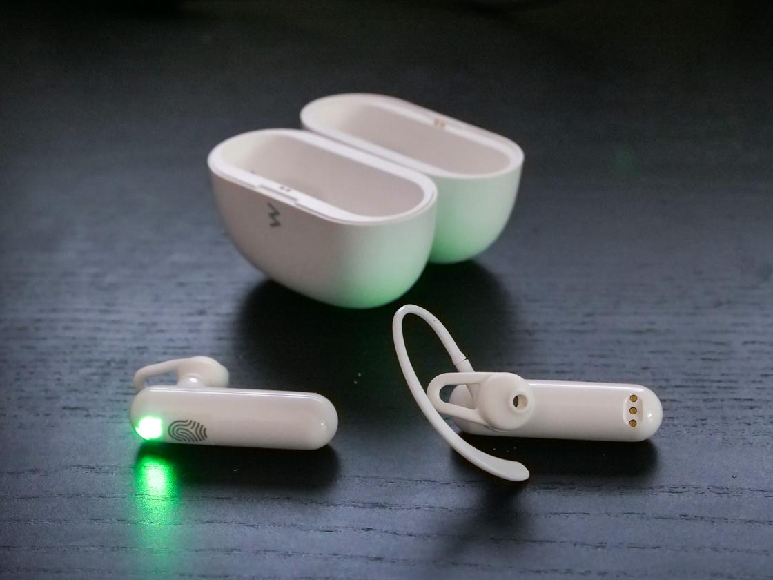 While the earbuds aren't very comfy in your ears, the over-ear loops can at least keep them in there