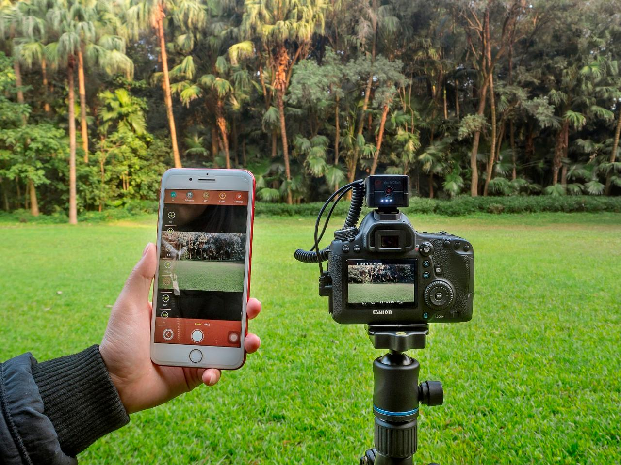 The Aurga app canbe used for full manual control of the camera, to trigger the shutter remotely, and to get HDR (High Dynamic Range) shots