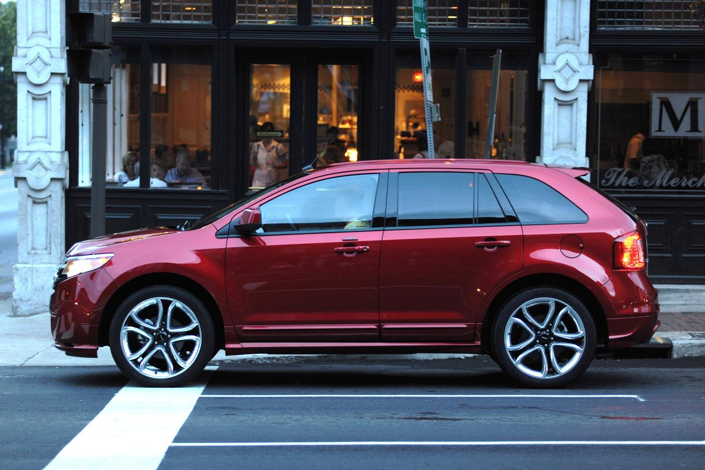 The Ford Edge crossover is the first vehicle to feature MyFord Touch