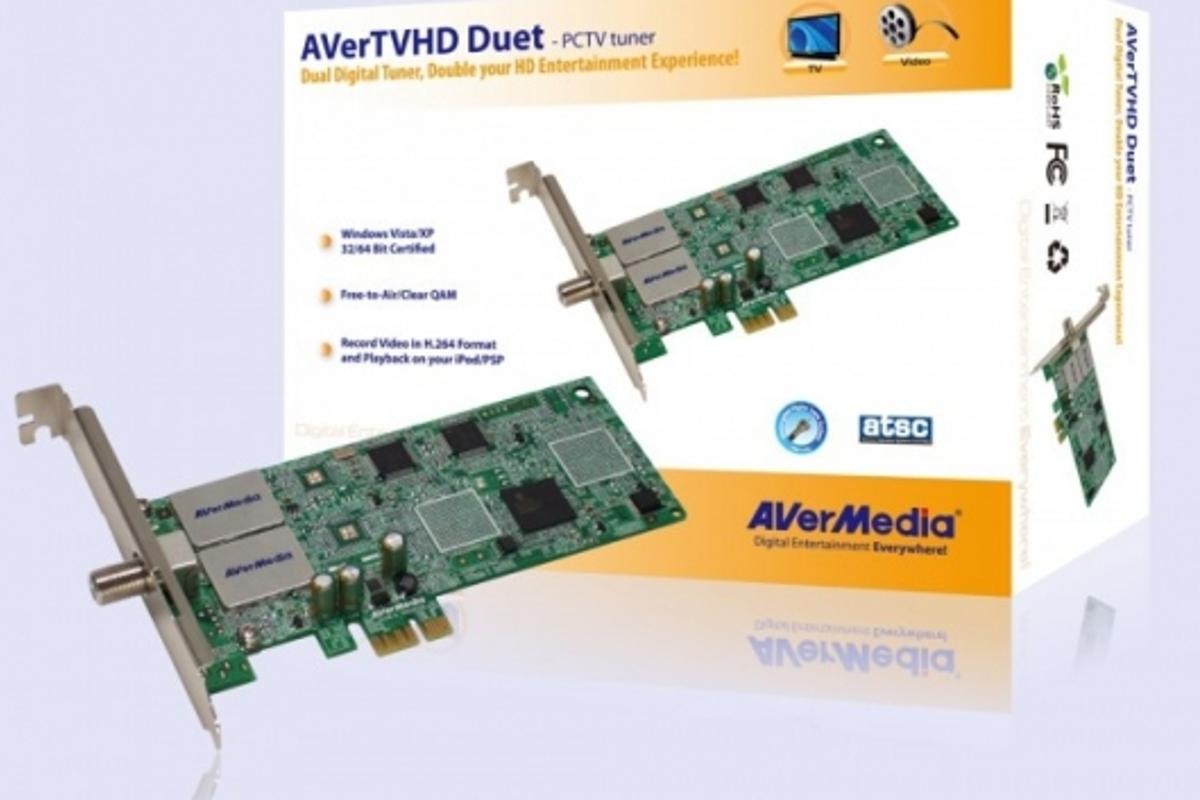 The AVerMedia twin HD TV tuner for your PC