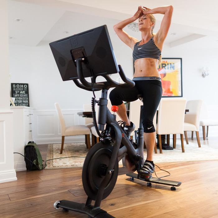 The sweat-resistant tablet is custom-made for the bike, and features a 21.5-inch 1080p multitouch display