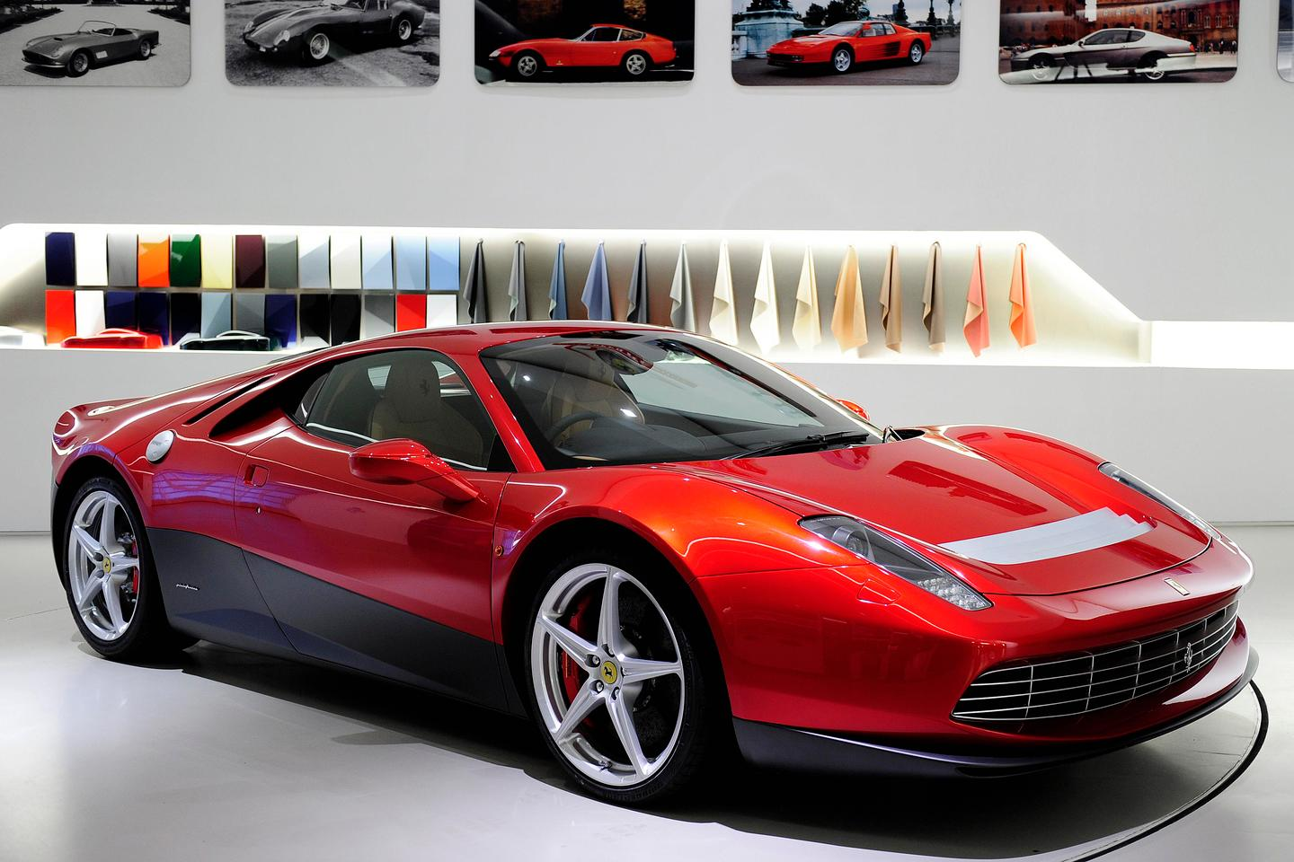 The Ferrari SP12 EC was designed by Clapton in collaboration with Pininfarina and Centro Stile Ferrari