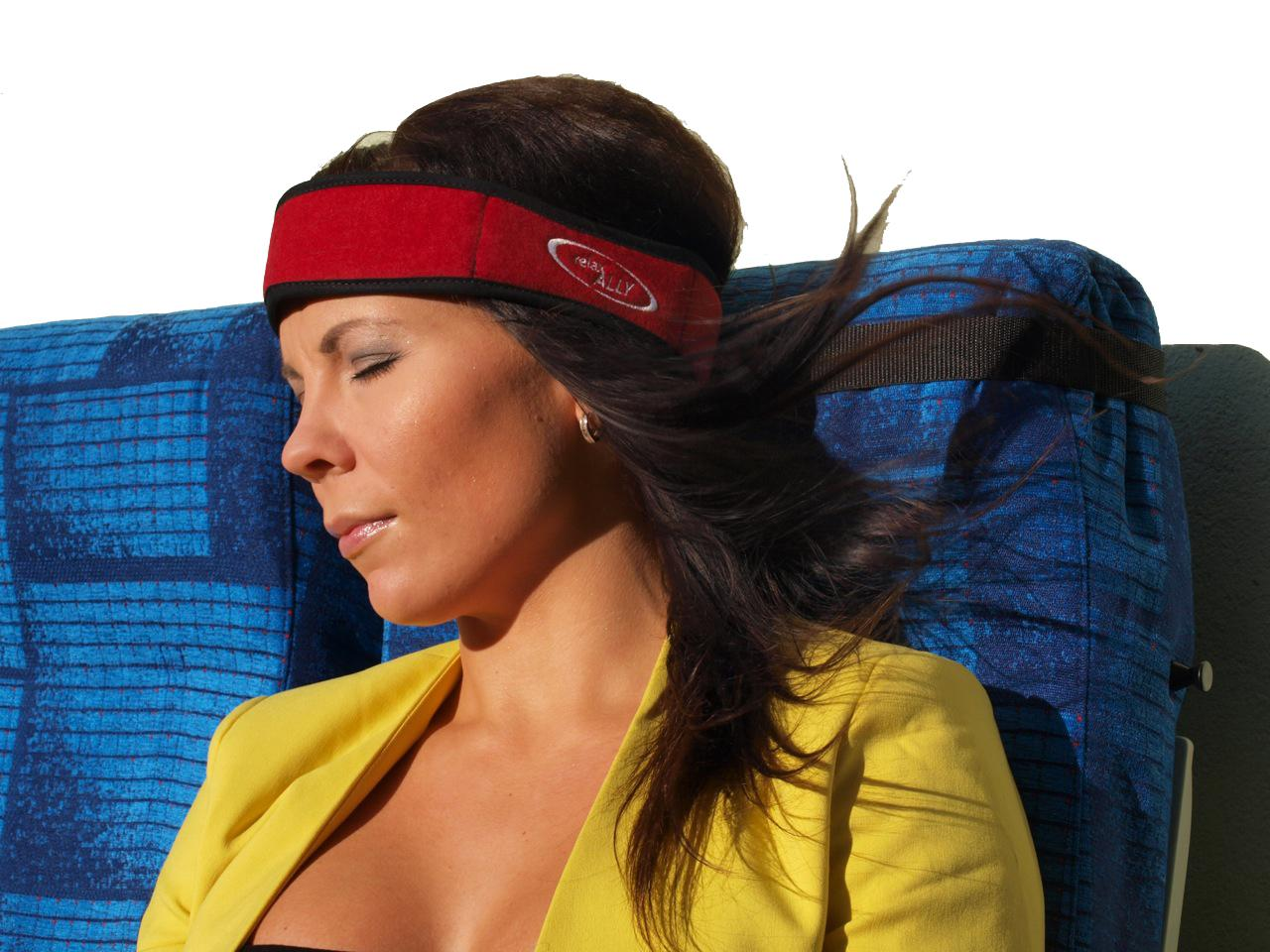 The Relax ALLY Restband in use