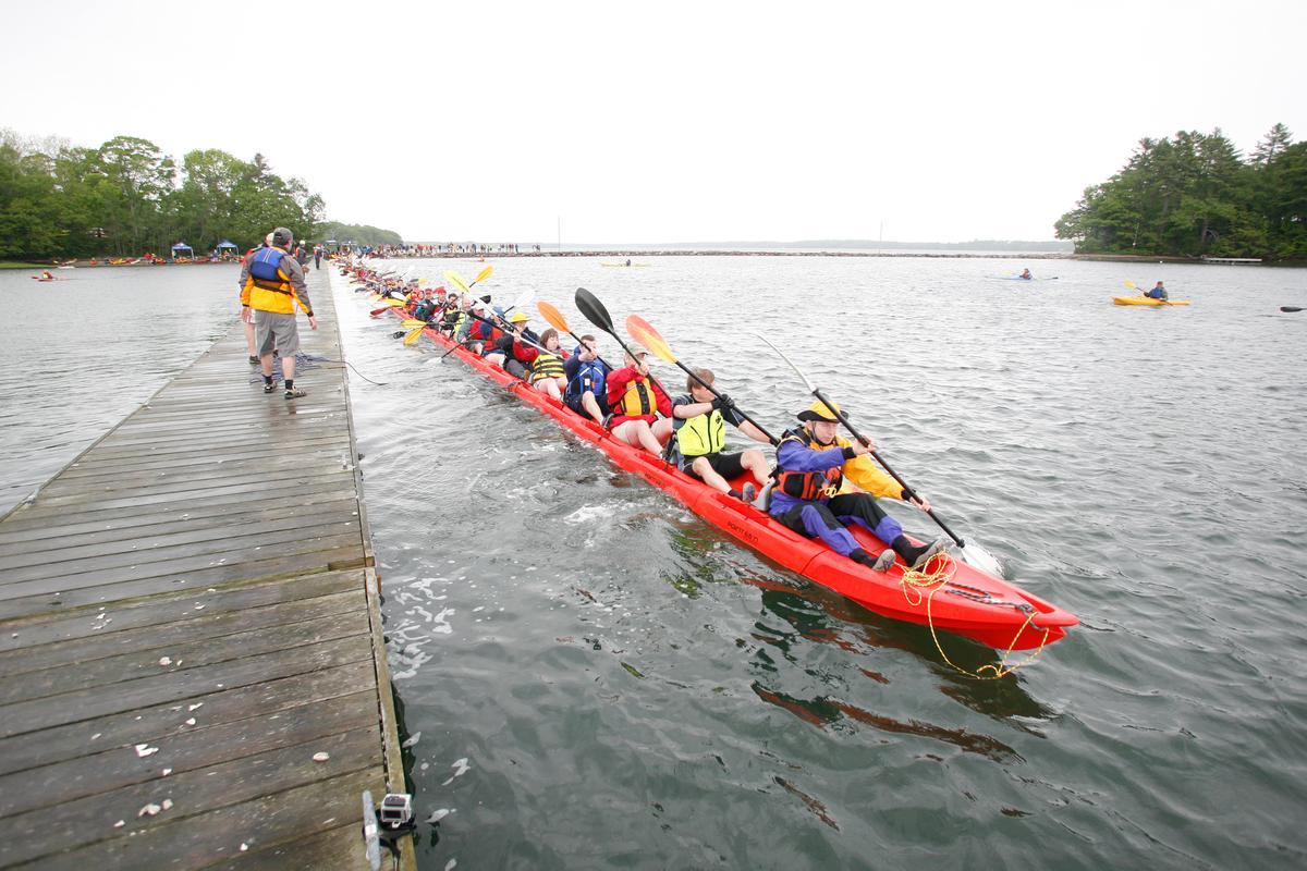 500 feet (152 meters) and 101 segments of kayak
