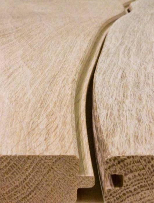 Bolefloors fit together with a standard tongue and groove joint