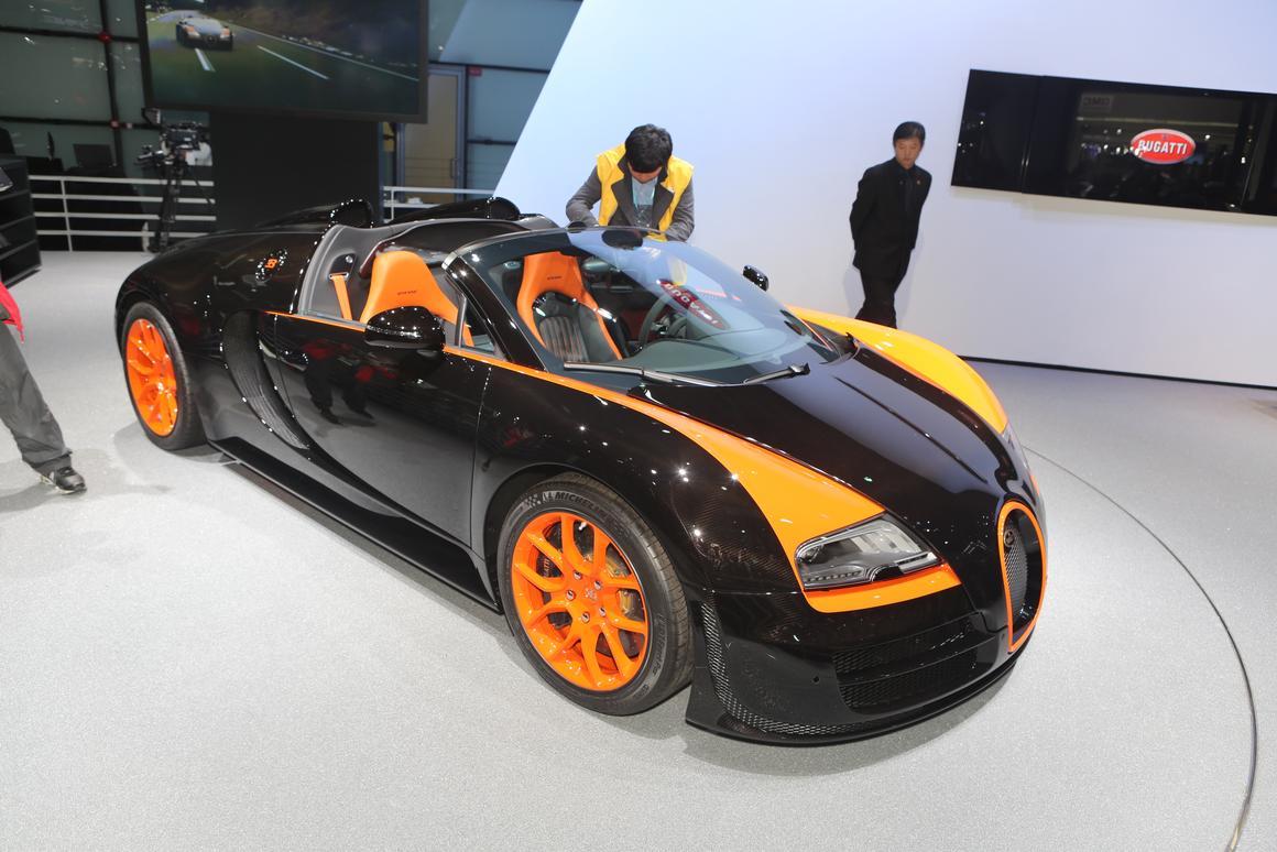 The Bugatti Veyron Grand Sport Vitesse World Record Car edition debuts in Shanghai