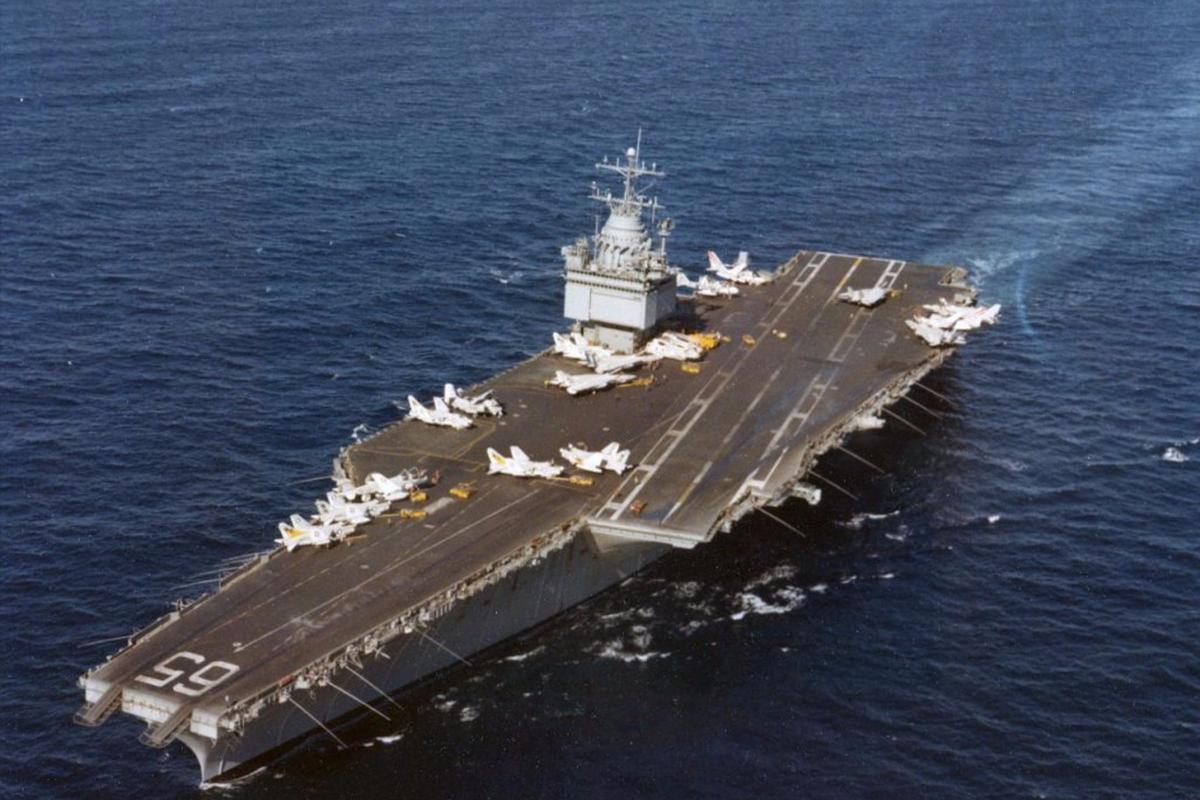 USS Enterprise in 1978