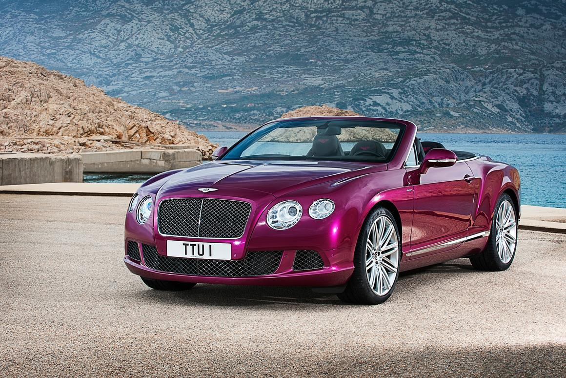 The Bentley Continental GT Speed Convertible that will debut at NAIAS 2013
