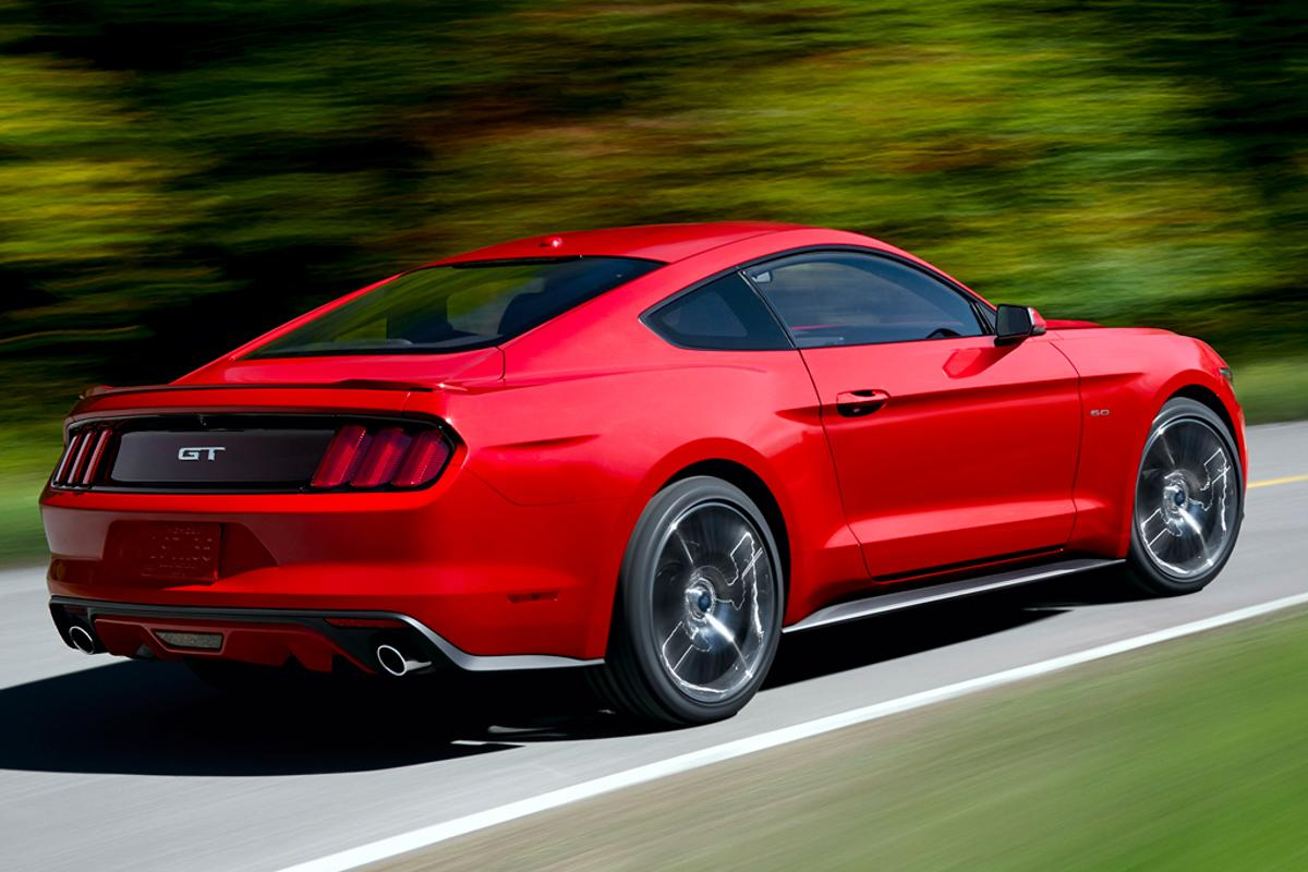 The new 2015 Mustang is available with a V6, V8 or a four-cylinder EcoBoost engine