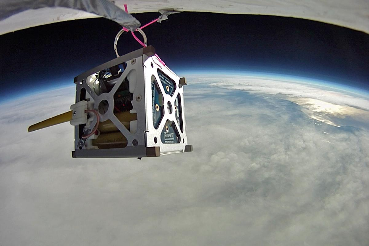 High altitude balloon test of PhoneSat 1.0